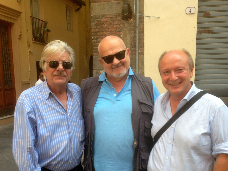 Gabriele with actor Giancarlo Giannini and historian Franco Cardini