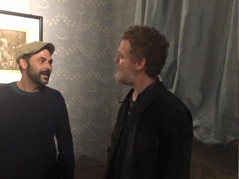 Carlo with Oscar-winning singer-songwriter Glen Hansard