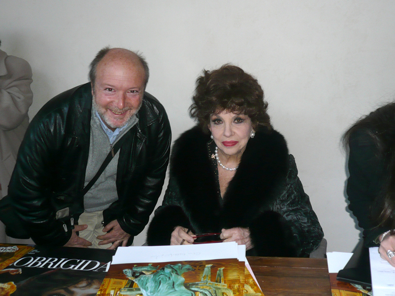 Gabriele with actress Gina Lollobrigida
