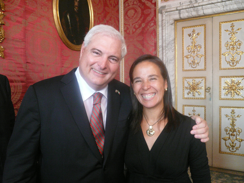 Patricia with the 49th President of Panama, Ricardo Martinelli