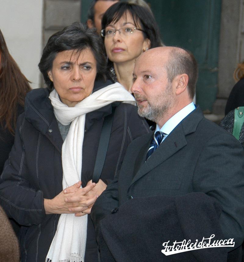 Gabriele accompanying Flavia Prodi, wife of former Italian Prime Minister, Romano Prodi
