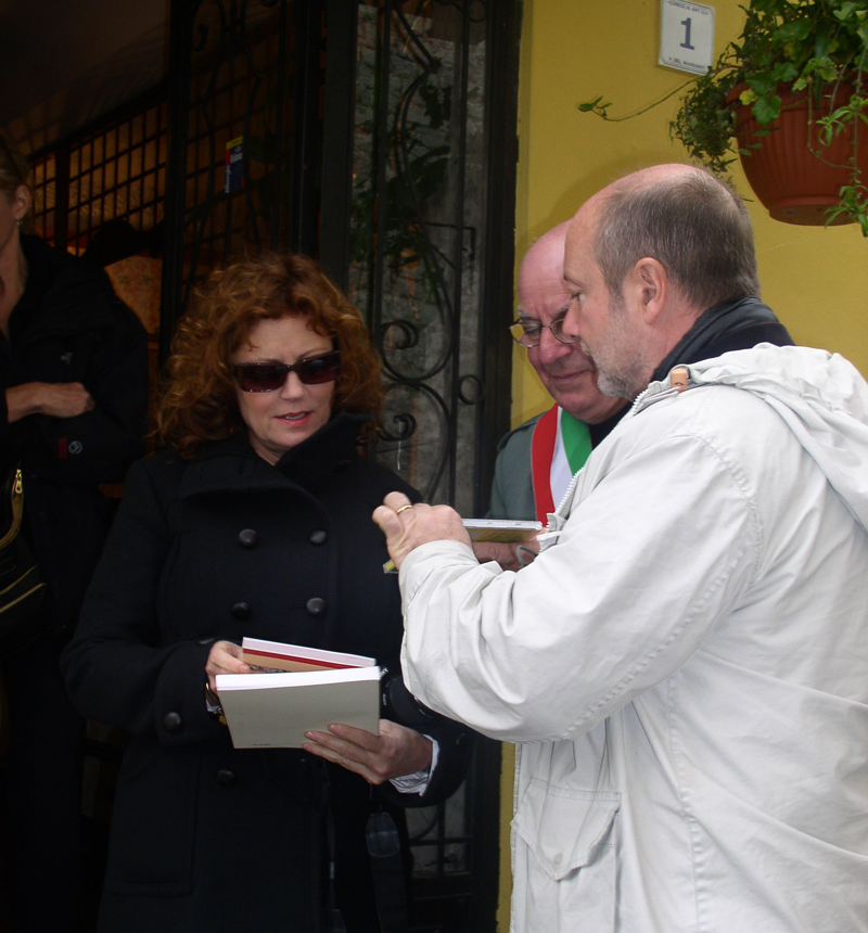 Gabriele with Oscar-winning actress Susan Sarandon