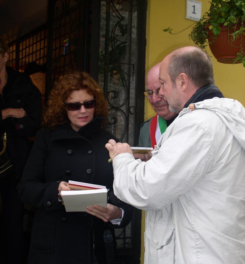 Gabriele with Oscar-winning actress Susan Sarandon