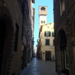 An empty street of Lucca