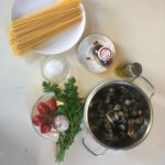 Ingredients for Seafood spaghetti