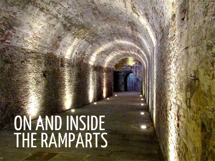 On and inside the ramparts