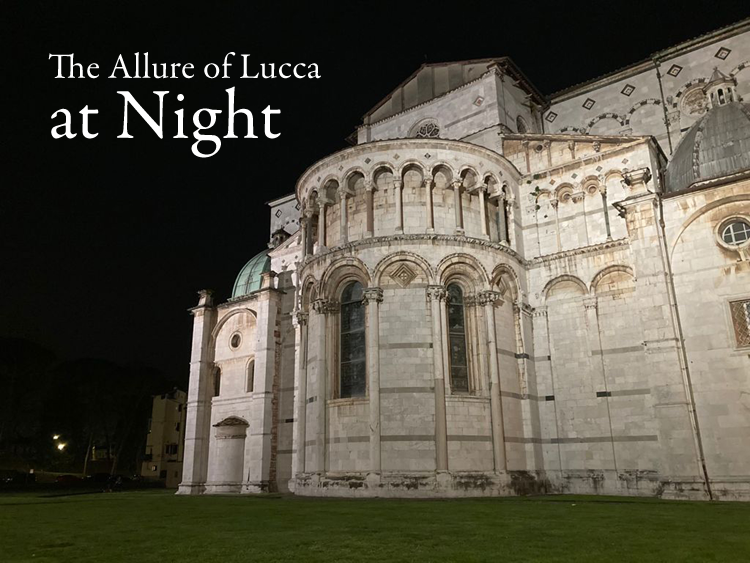 The allure of Lucca at night